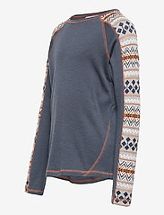name it - NKMWILLTO WOOL LS TOP NOOS XX - basislag - ombre blue - 2