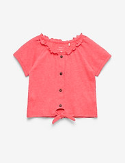 name it - NMFHASWEET SS TOP - short-sleeved - calypso coral - 0