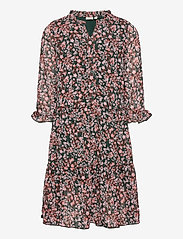 name it - NKFKIMMIE MIDI 3/4 SL DRESS - robes - darkest spruce - 0