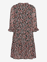name it - NKFKIMMIE MIDI 3/4 SL DRESS - robes - darkest spruce - 1