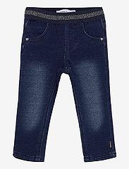 name it - NMFSALLI DNMTORINA 3246 SWE LEGGING NOOS - jeans - dark blue denim - 0