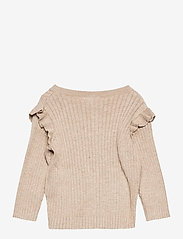 name it - NBFTARIB LS KNIT CARD - gilets - silver sage - 1