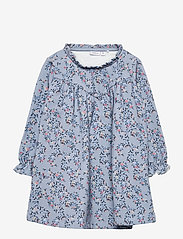 name it - NMFTALIVA SWEAT DRESS BRU - kleider - dusty blue - 0
