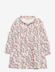 NMFTALIVA SWEAT DRESS BRU - PEACH WHIP
