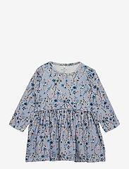 name it - NBFTESSIE LS DRESS - kleider - dusty blue - 0