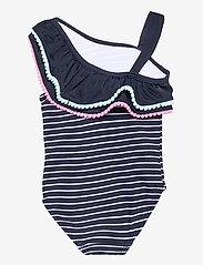 name it - NMFMINNIE MONJA SWIMSUIT WDI - swimsuits - dark sapphire - 1