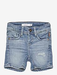 name it - NMMSOFUS DNMBTEXAS 1480 LONG SHORTS BET - shorts - light blue denim - 0