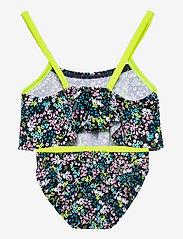 name it - NMFZIFLOWER BIKINI - swimsuits - dark sapphire - 1