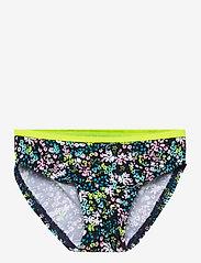 name it - NMFZIFLOWER BIKINI - swimsuits - dark sapphire - 2