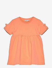name it - NMFFARHANA LIGHT SWEAT DRESS UNB - kleider - cantaloupe - 0