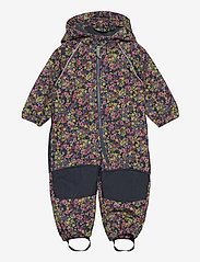 name it - NMFALFA SUIT FLORAL FO - softshells - midnight navy - 0