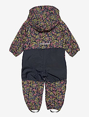 name it - NMFALFA SUIT FLORAL FO - softshells - midnight navy - 1
