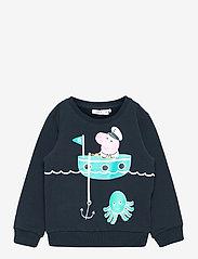 name it - NMMPEPPAPIG SALIK SWEAT UNB PEP - sweatshirts - dark sapphire - 0