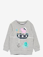 name it - NMMPEPPAPIG SALIK SWEAT UNB PEP - sweatshirts - grey melange - 0