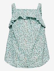 name it - NKFVINAYA FLOUNCE STRAP TOP HH - t-shirts - pastel turquoise - 0