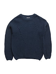 NITDINEON LS KNIT ONECK NMT - INSIGNIA BLUE