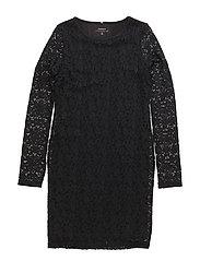 NITPEDRA LS SLIM DRESS NMT - BLACK