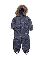 NITPOWDER SNOWSUIT AOP SOFT MZ B FO - DRESS BLUES
