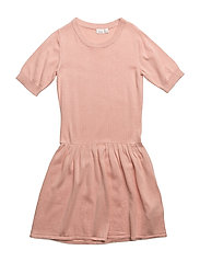 NITKLASSI SS KNIT DRESS F NMT - EVENING SAND