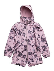 NKFALFA SOFTSHELL JKT LONG AOP FO - DAWN PINK