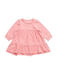NBFDALONE LS DRESS - SUNKIST CORAL