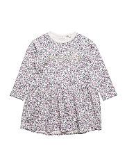 NMFERBINA LS DRESS - SNOW WHITE