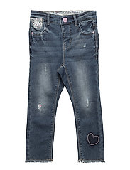 NMFPOLLY DNMADEA 2026 SWE PANT - MEDIUM BLUE DENIM