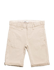NKMRYAN TWIANDERS CHINO SHORTS AD - WHITE PEPPER