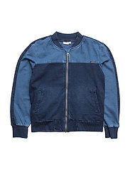 NKMANDER DNM 2030 BOMBER JACKET - MEDIUM BLUE DENIM