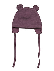 NBFWUPPO WOOL/CO HAT - PRUNE PURPLE