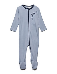 NBMWILLIT WOOL LS NIGHTSUIT WF - DUSTY BLUE