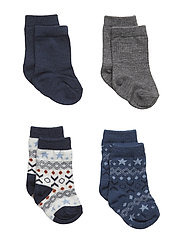 NBMWAK WOOL 4 PACK SOCK - DRESS BLUES
