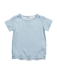 NMFAKAMMA DNM 1054 SS TOP - LIGHT BLUE DENIM