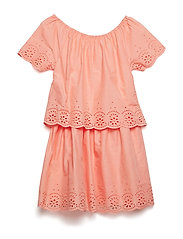 NKFJUSINE SS DRESS - BLOOMING DAHLIA