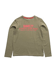 NITDOIL LS TOP M KIDS - DEEP LICHEN GREEN