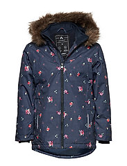 NKFSNOW08 JACKET AOP FLOWER FO - SKY CAPTAIN