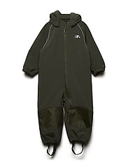 NMMALFA SOFTSHELL SUIT MAGIC FO CAMP - FOREST NIGHT