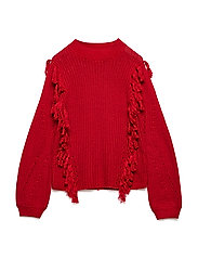 NKFLOUISE LS KNIT - TRUE RED