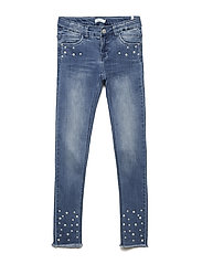 NKFPOLLY DNMAGUNA 2113 PANT - MEDIUM BLUE DENIM