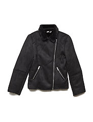 NKFMABINE TEDDY JACKET - BLACK