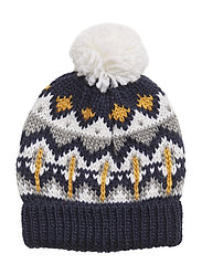 NKMMICH KNIT WOOL HAT - DRESS BLUES