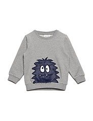 NMMOLDRIK SWEAT BOX BRU - GREY MELANGE