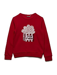 NKFNINAS LS SWEAT BRU - TRUE RED