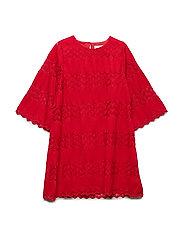 NKFREBEKKAN 3/4 SL DRESS - JESTER RED