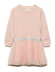 NMFRALUKKA LS KNIT DRESS - ROSE CLOUD