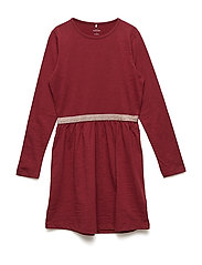 NKFVALJA LS DRESS R - CABERNET