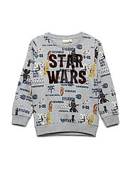 NMMSTARWARS  NEMO BRU SWEAT WDI - GREY MELANGE