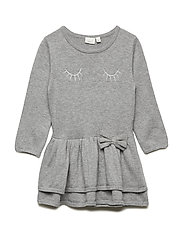 NMFOTAXI LS KNIT DRESS - GREY MELANGE