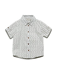 NMMSTEVE SS SHIRT CAMP - BRIGHT WHITE