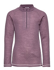 NKFWILL WOOL/POLY JAQ LS TURTLE XIX - BLACK PLUM